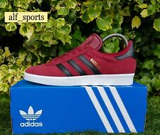 ❤ BNWB & Genuine Adidas Originals ® Gazelle Burgundy Suede Trainers UK Size 8