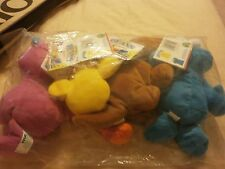 4 SESAME STREET BEANS  TYCO 30 ANIVERSITY MINT SEALED BAG W/TAGS