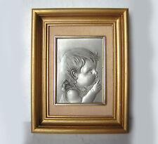 ETAIN certifié :enfant, bébé, chérubin. Cadre / tableau / image,sur fond velours