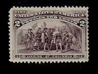 US 1893  Sc# 231 - 2 c Columbian - Mint NG - Crisp Color