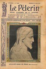 Sacré Coeur de Jésus Christ Oeuvre de Charon France 1912 ILLUSTRATION