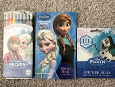 Disney Frozen -Set Of 3-Coloring Activity book, Twist Up Crayons, Sticker Book