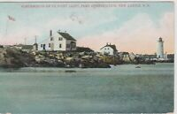 Fort Point Lighthouse, Portsmouth New Hampshire Vintage Postcard