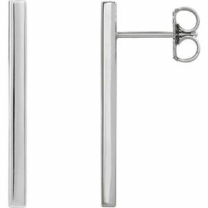 Bar Earrings In Platinum