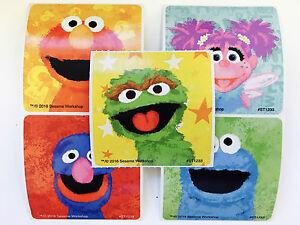 "20 Sesame Street Chalk Faces Stickers Party Favors Elmo Abby Oscar 2.5""x2.5"""