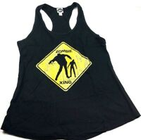 Fifth Sun Juniors Zombie Xing Tank, Black, X-Large black razor back