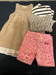 Seed  Bundle Girls Cute Silk Dress and Top and Vest and Pants1-2 Great Condition