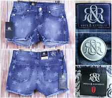 Rock & Republic Star Shower Shorts Size 0 Premium Pockets Classic Style NWT
