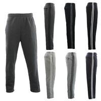 NEW Men's Fleece Lined Track Pants w Zip Pocket Striped Casual Track Suit Pants