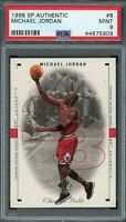 Michael Jordan Bulls 1998 SP Authentic Upper Deck Basketball Card #8 PSA 9 MINT