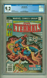 Eternals 3 CGC 9.2 - Nice Case Thanos ties Upcoming movie  1st Sersi White Pages