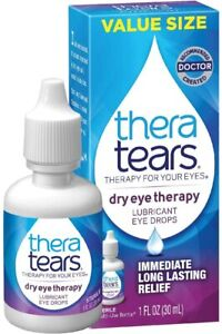 TheraTears Eye Drops for Dry Eyes, Therapy Lubricant Eyedrops,...