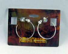 DISNEY Couture PIRATES of the CARIBBEAN Hoop EARRINGS SILVER Plated SWORDS