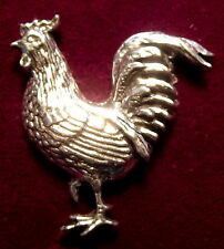 Lovely Pewter Chicken Rooster Cockeral  Pin Brooch Nice