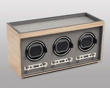 Wolf Design M2.7 Meridian Triple Automatic Modular 3 Watch Winder Blonde NEW