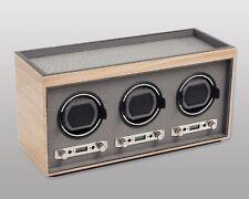 Wolf Design M2.7 Meridian Triple Automatic Modular 3 Watch Winder Blonde NEW