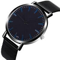 Modisch Herren Uhr Kristall Sport Edelstahl Armbanduhr Analog Quarz Wrist Watch