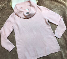 J Jill Womens Pink Sweater Size M NWT Long Sleeves Cowl Neck