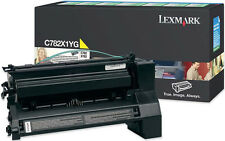 New Genuine Lexmark C782 X782 Toners Cartridge Yellow / Cyan C782X1CG / C782X1YG