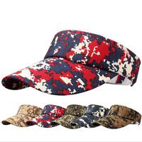 NEW Visor Sun Plain Hat Sports Cap Colors Golf Tennis Beach Adjustable Men Women