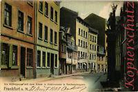 AK Frankfurt a. M., Sachsenhausen, Rittergasse, Adam- u. Evabrunnen,1903,14/04