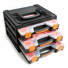 Portable Nail Screws Bolts Storage Case Tool Box Plastic Drawer PM-2-3S
