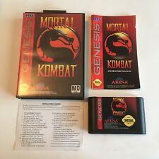 Mortal Kombat Sega Genesis Video Game Complete in Box W/ Registration Card! Look