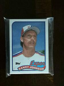 1989 Topps Montreal Expos Team Set 29 cards including #647 Randy Johnson RC HOF