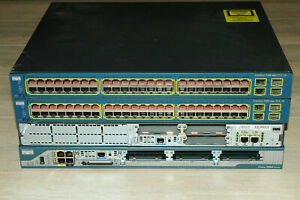 Cisco CCNA CCNP CCIE Lab Kit 2x 2801 2811 Routers 2x 3560-48 Switch Guiding DVD