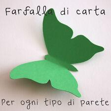 10 Farfalle 3D Verde Scuro di carta lavorata a mano 10x7,3 cm