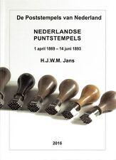 Catalogus Puntstempels Nederland catalogue numeral postmarks Netherlands 2016