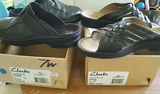 2 pairs clarks womens shoes size 7 wide- sandal &shoe