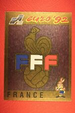 Panini EURO 92 N. 42 FRANCE BADGE NEW WITH BLACK BACK TOP MINT!!