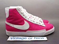 Girls' Nike Blazer Mid Pink White Canvas GS 2009 sz 5Y