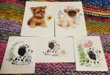 New Listing5 Assorted Ruth Morehead Puppy Dog Greeting Note Cards Adorable Designs