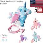 Magic Animated Walking & Singing Unicorn Electronic Toys Blue Pink for Kids US