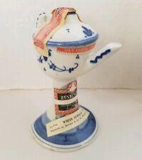 Vintage Delf Blue Hand Painted Curacao  Liquor Sealed But Empty souvenir