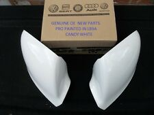 VW TRANSPORTER T5-1 GENUINE WING MIRRORS COVERS PAIR PAINTED VW LB9A CANDY WHITE