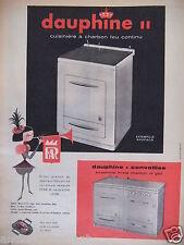 PUBLICITÉ 1958 FAR DAUPHINE CUISINIÈRE A CHARBON FEU CONTINU - ADVERTISING