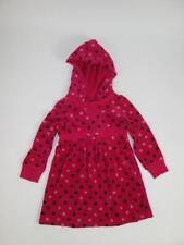 BABY GAP GIRLS PINK/BLACK POLKA DOT L/S VELOUR HOODED SWEATER DRESS 4T EUC