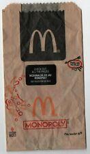 Mc donalds MOZZARELA Dippers monopole petit sac marron 18 cm x 10 cm (2019)