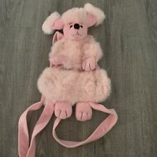 Stuffed Poodle Backpack Heritage Collection by Ganz Pink Plush Dog Bag