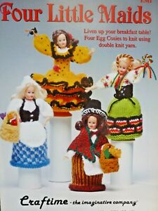 Craftime Four Little Maids Dolls Knitting Pattern - Egg Cosies