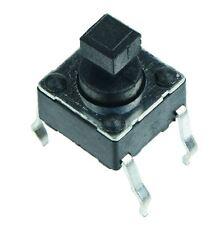 10 X 6x6mm Cuadrada Actuador momentáneo PCB Interruptor Tactil altura 7.3mm