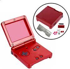 Passend für Gameboy Advance SP, GBA SP Gehäuse Housing rot metallic Ersatzteile