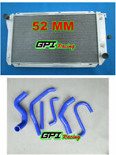 aluminum radiator +blu hose Ford EF EF2 EL NF NL DF DL Falcon Fairline Fairmont