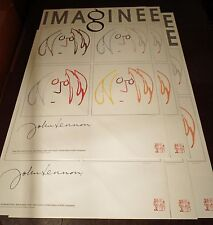 JOHN LENNON - Imagine HAND SILK-SCREENED LITHOGRAPH - x5 sequential #'s -Bag One
