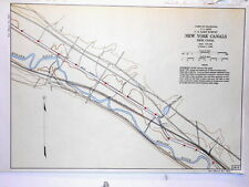 Color Map Erie Canal Utica Lock 19 New York U.S. Army Corp of Engineers #1816