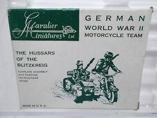 1970 VTG 54mm 1:32 METAL CAVALIER GERMAN WW2 BMW Motorcycle Sidecar gunner GM14