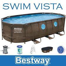 Bestway Poder Steel Swim Vista 549x274x122 CM Marco Piscina Oval En Completo Set